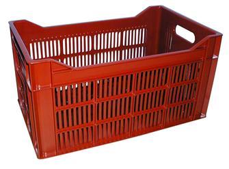 Caisse ajourée empilable 34 litres pour fruits et olives