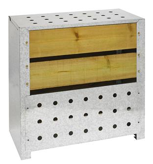 Silo composteur 200 litres en bois autoclave et acier galvanisé fabriqué en France