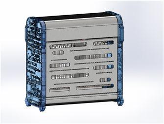 Désinsectiseur électrique inox et bleu pour 50 m²