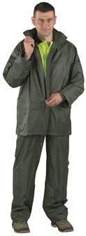Ensemble pantalon et veste vêtement de pluie souple polyamide taille M très ample