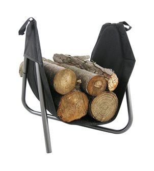 Panier à bûches avec sac détachable et socle acier fabriqué en France