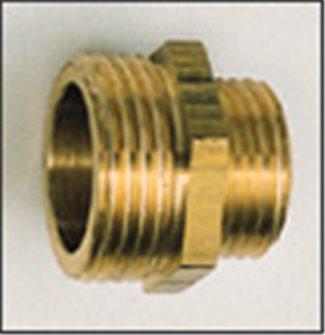 Réduction laiton 40/49 33/42 mâle/mâle pour sortie de pompe